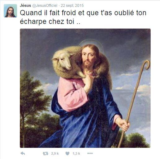 Jésus tweete