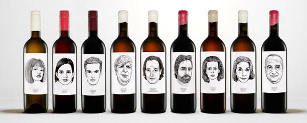 Etiquettes atypiques pour des bouteilles de vins