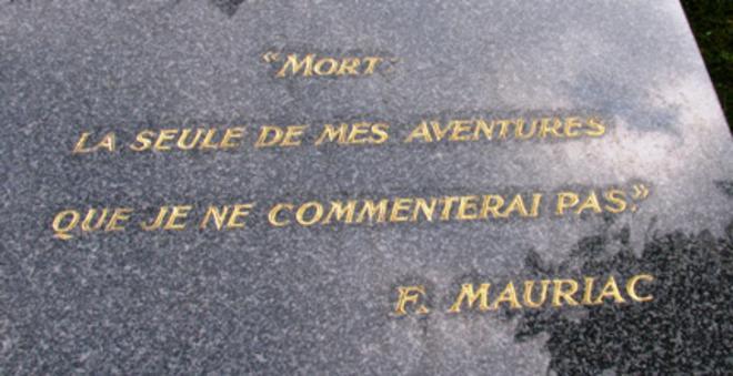 Tombe de l'écrivain François Mauriac