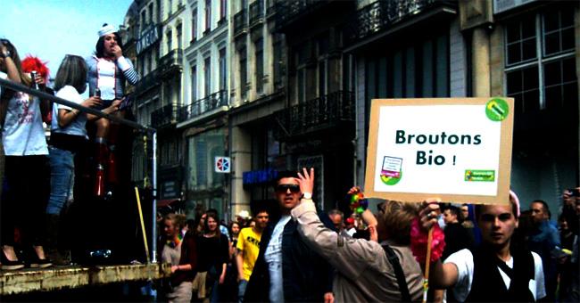 Photo Gay pride slogan Broutons bio