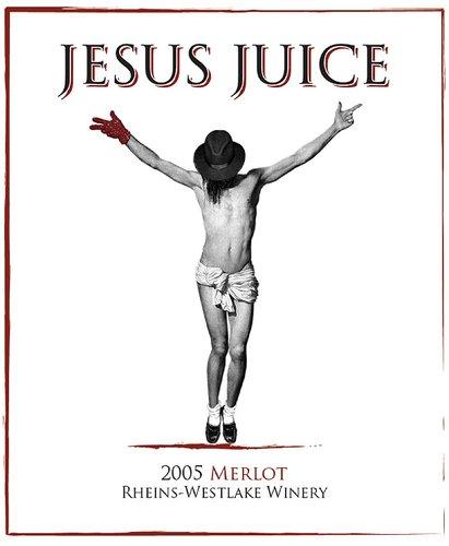 Jesus Juice étiquette merlot 2015