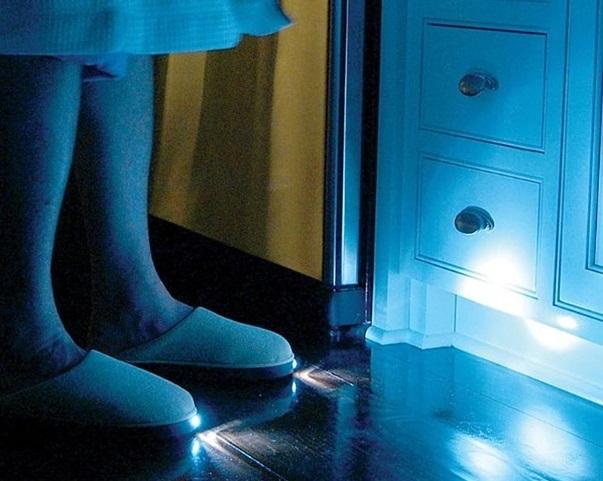 inventions droles et belles Les pantoufles lumineuses