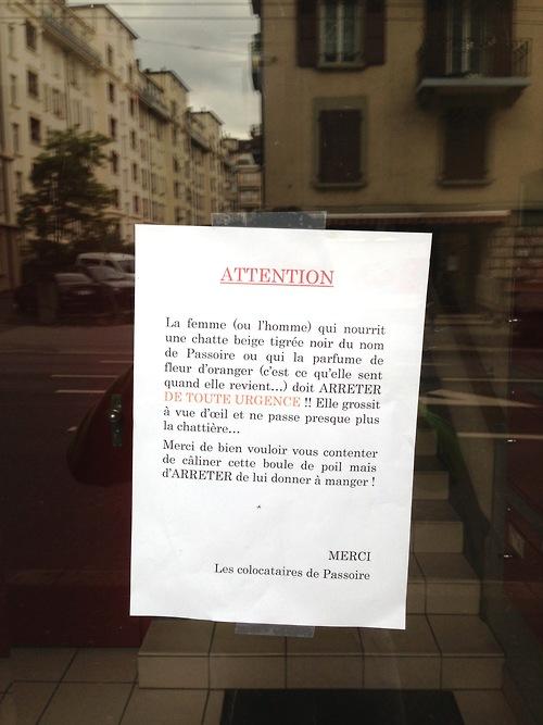 Humour message entre voisin la voisine désespérée