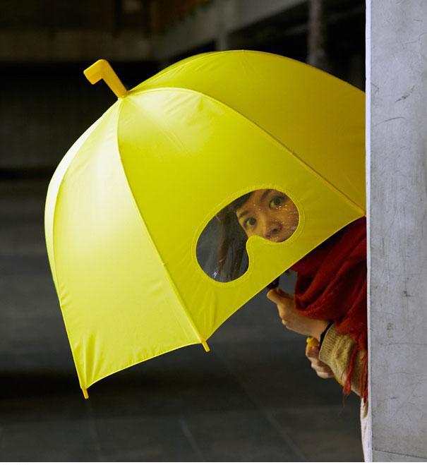 Parapluie avec vue
