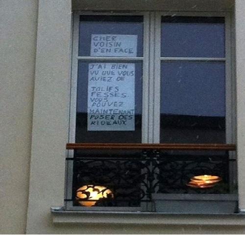 Humour message entre voisin