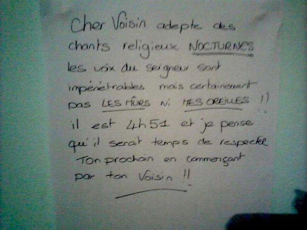 Le voisin religieux