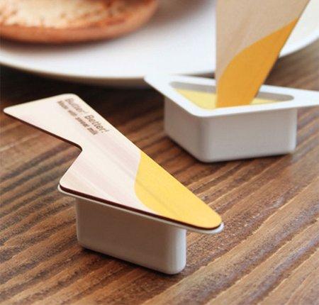 Le beurre pratique packaging avec couteau intégré