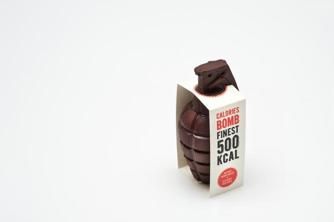 Une grenade qui fait exploser des calories packaging