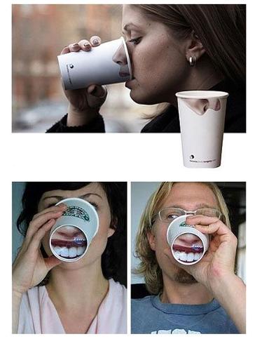 packaging boisson verre avec des visages