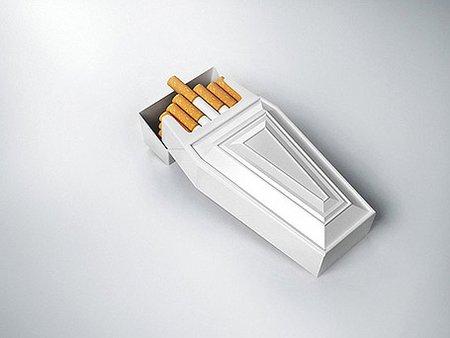 paquet de cigarettes packaging en forme de cercueil