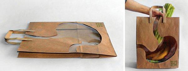 sac estomac packaging pour vos courses