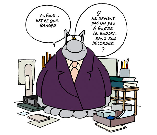Vignette BD le chat sur le bordel