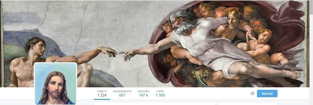 Jésus est partout et sur twitter