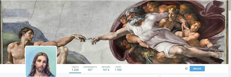 Jésus est partout ? En tout cas il est sur Twitter !